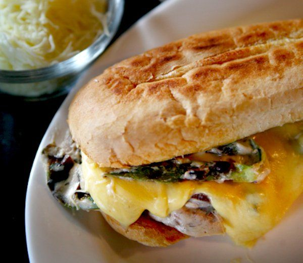 Spicy Mushroom Torta with Cheese: This Mexican torta has just a splash ...