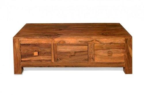 Couchtisch Cube massiv Holz Palisander Moderner Couchtisch