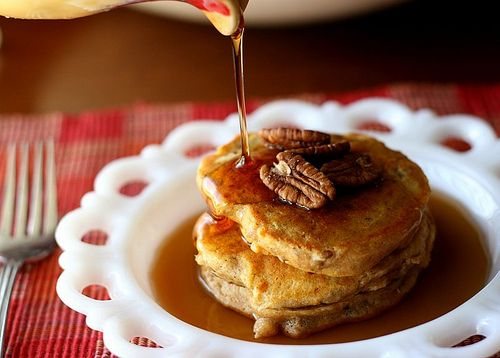 Spiced Sweet Potato and Pecan Pancakes | Pancakes! | Pinterest