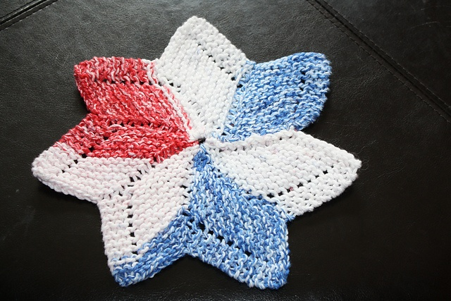 Knitted Dishcloth Pattern With Star : Ravelry: mcgonigal32s Star Dishcloth Pattern Library Pinterest
