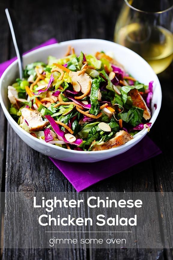 Lighter Chinese Chicken Salad- to make gluten free skip the chow mein ...