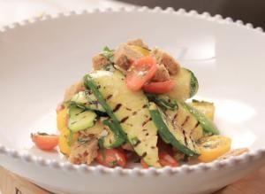 Chef Amanda Freitag's Grilled Zucchini and Tomato Panzanella Salad
