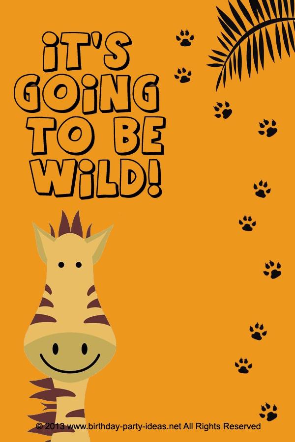 Jungle Theme Party Invitations for nice invitations ideas