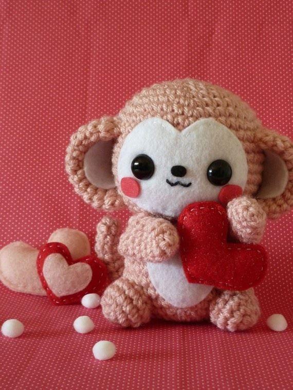 Kawaii Monkey Amigurumi : CROCHET - so cute Amigurumi Pinterest