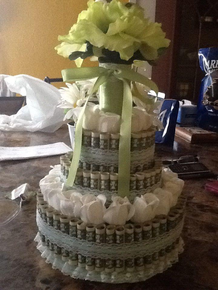 Pin money cake ideas 66752 money cake for wedding present - Money cake decorations ...