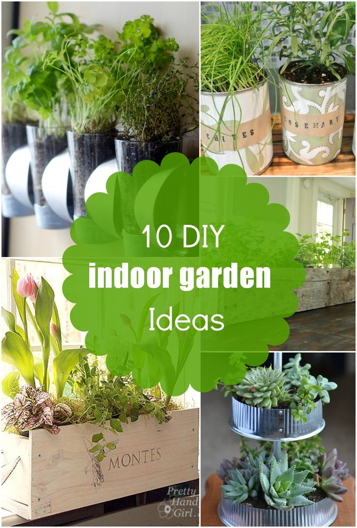 10 diy indoor planter and herb garden ideas for Garden planter designs