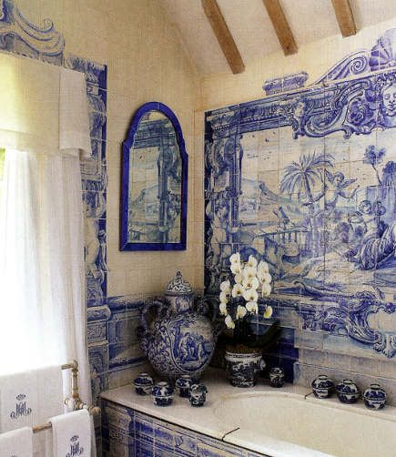 Delft blue blue any shade of blue pinterest for Delft tile mural
