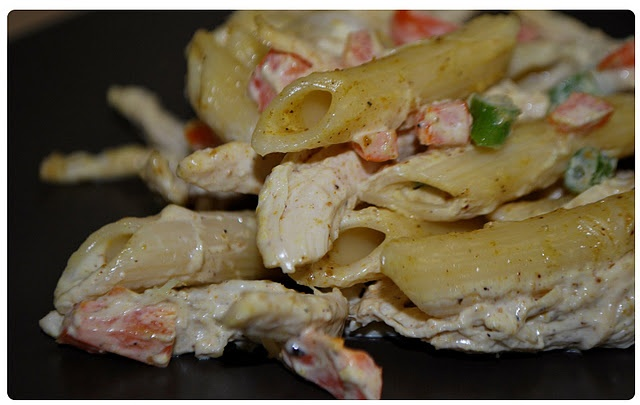 Curry Chicken Pasta Salad   Fun food!   Pinterest
