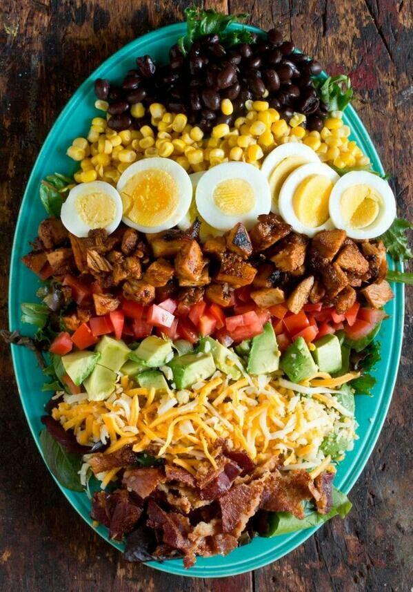 Bbq chicken cobb salad | Salad Bar | Pinterest