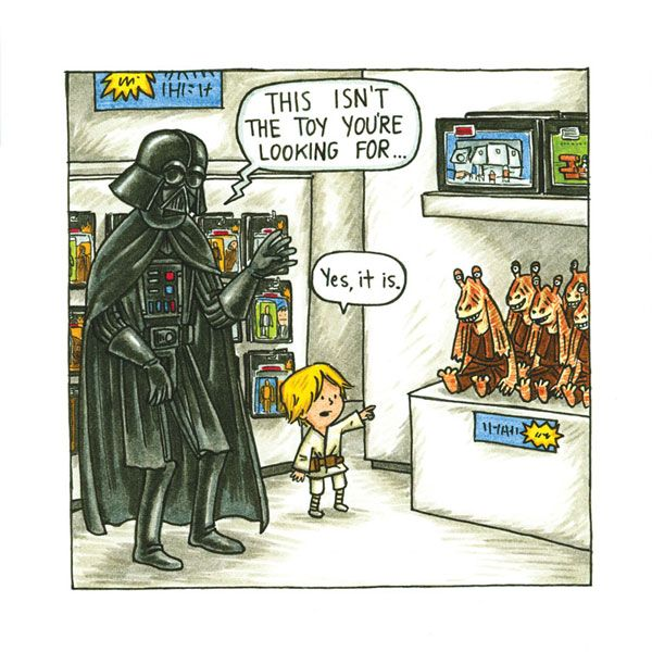 From the book 'Darth Vader and Son'