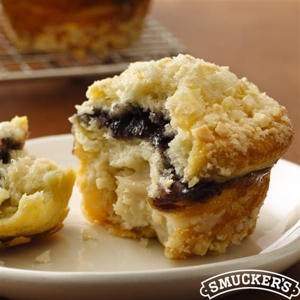Blueberry-Almond Crème #Muffins from Smucker's® #Breakfast