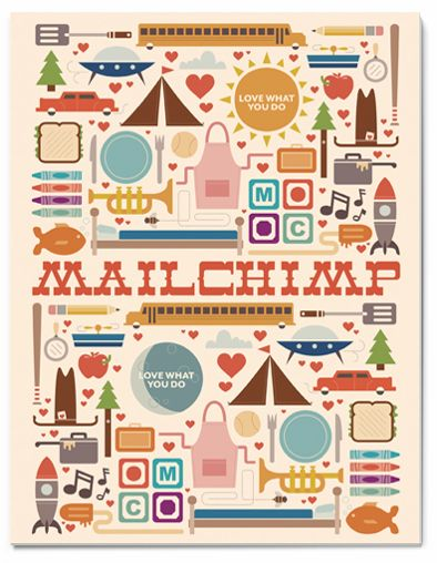 MailChimp Colouring Book Cover