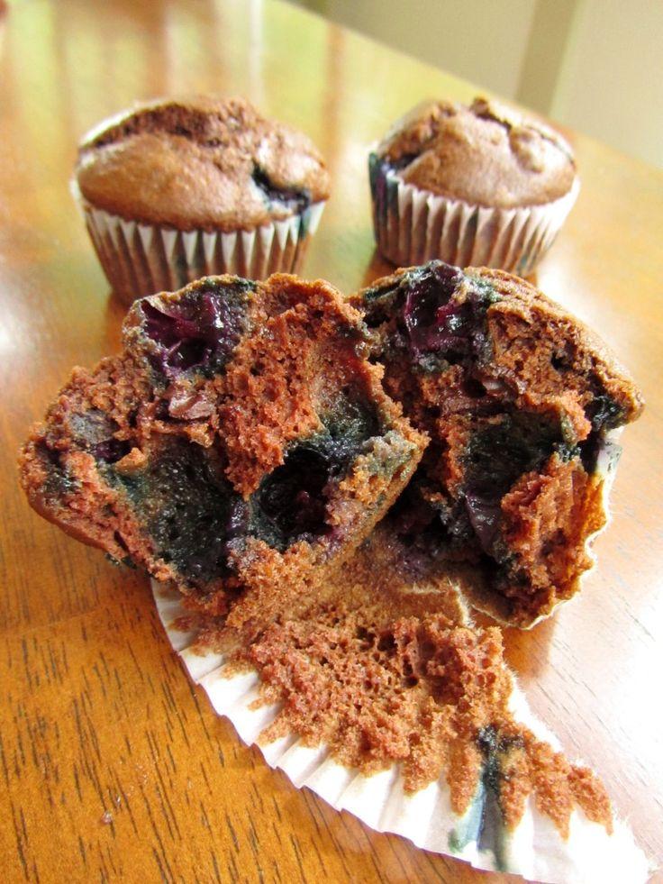 Dark Chocolate Blueberry Muffins | Muffins & Muffin Tops | Pinterest