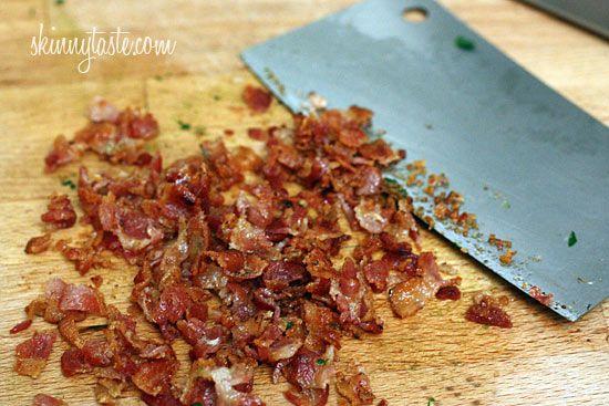 Skinny Spinach and Bacon Stuffed Mushrooms   Skinnytaste
