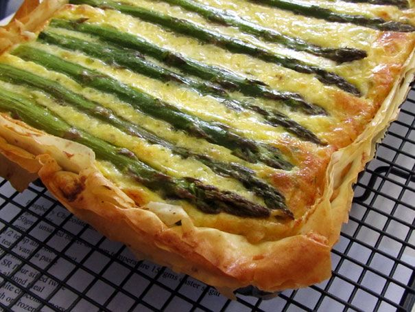 Asparagus, Potato and Cheese Quiche or Tart | Recipe