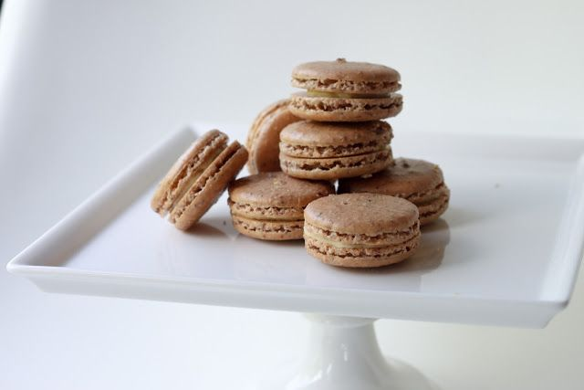 Pistachio - Cocoa Nib Macarons With Bourbon Buttercream ...