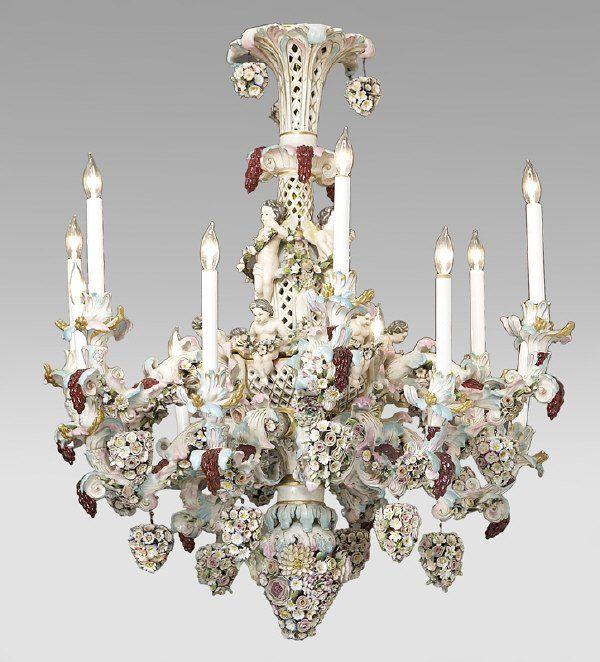 German porcelain chandelier Chandeliers