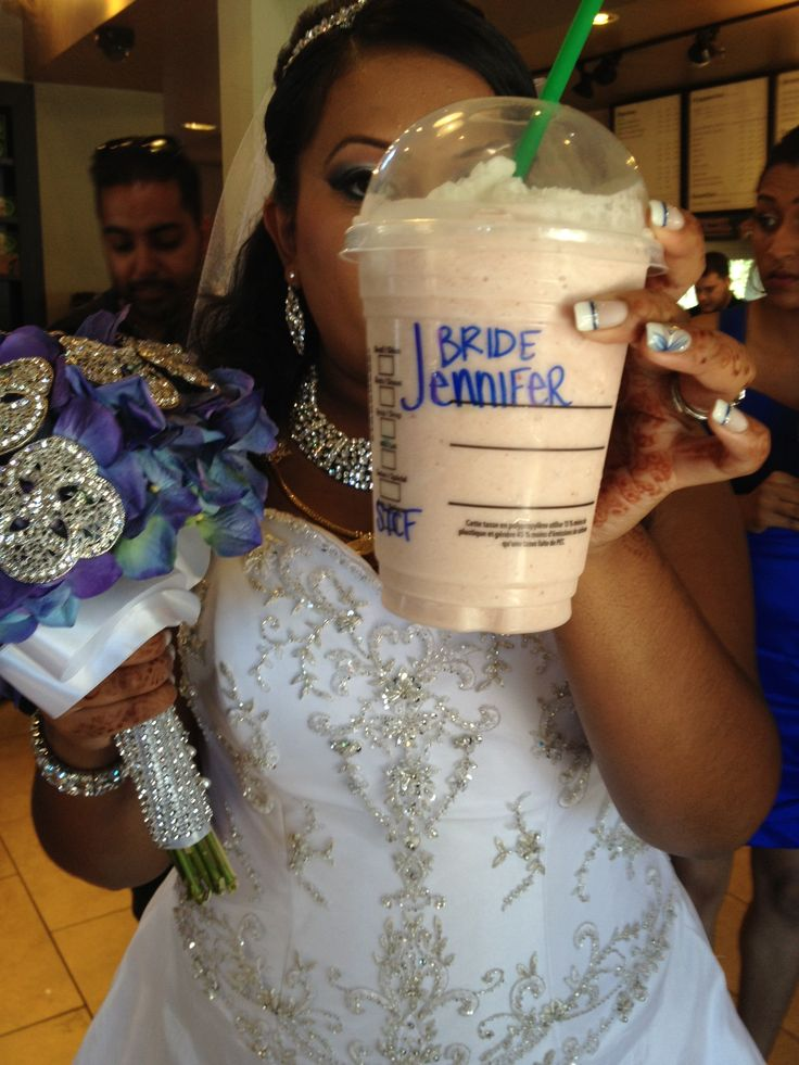 Tested the starbucks theory free drink for the bride and groom