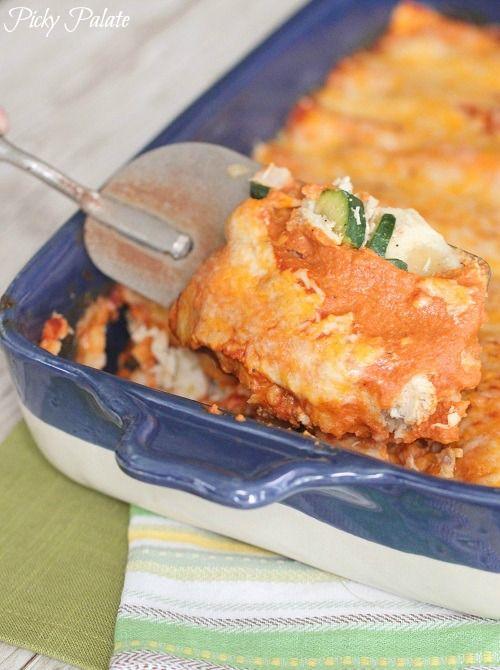 Skinny Chicken Vegetable Enchiladas Homemade Enchilada Sauce 2 ...