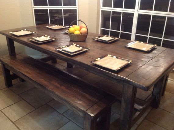 Farmhouse Style Dining Table Benches By SAEFurniture On Etsy 900