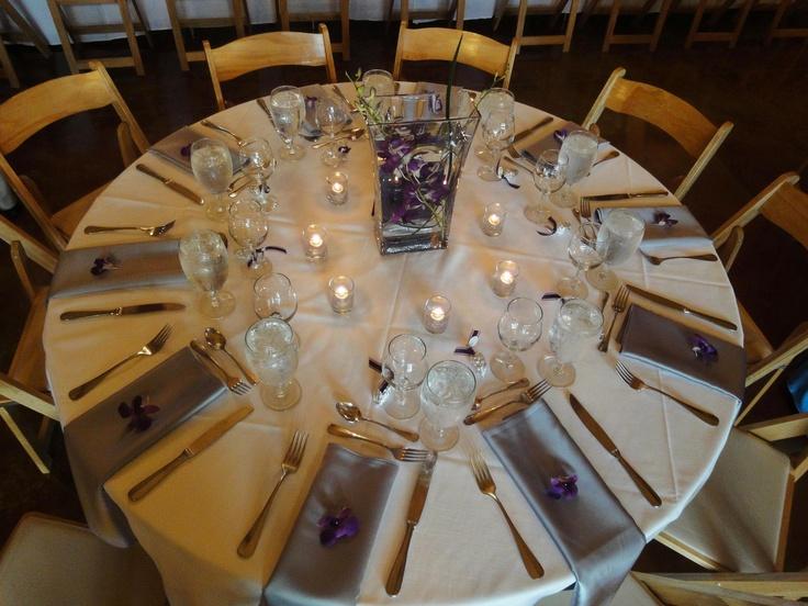 Kim's wedding - table setting @ Zenith Vineyard