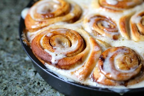 Slightly Healthier Cinnamon Buns | The Breakfast of Champions | Pinte ...