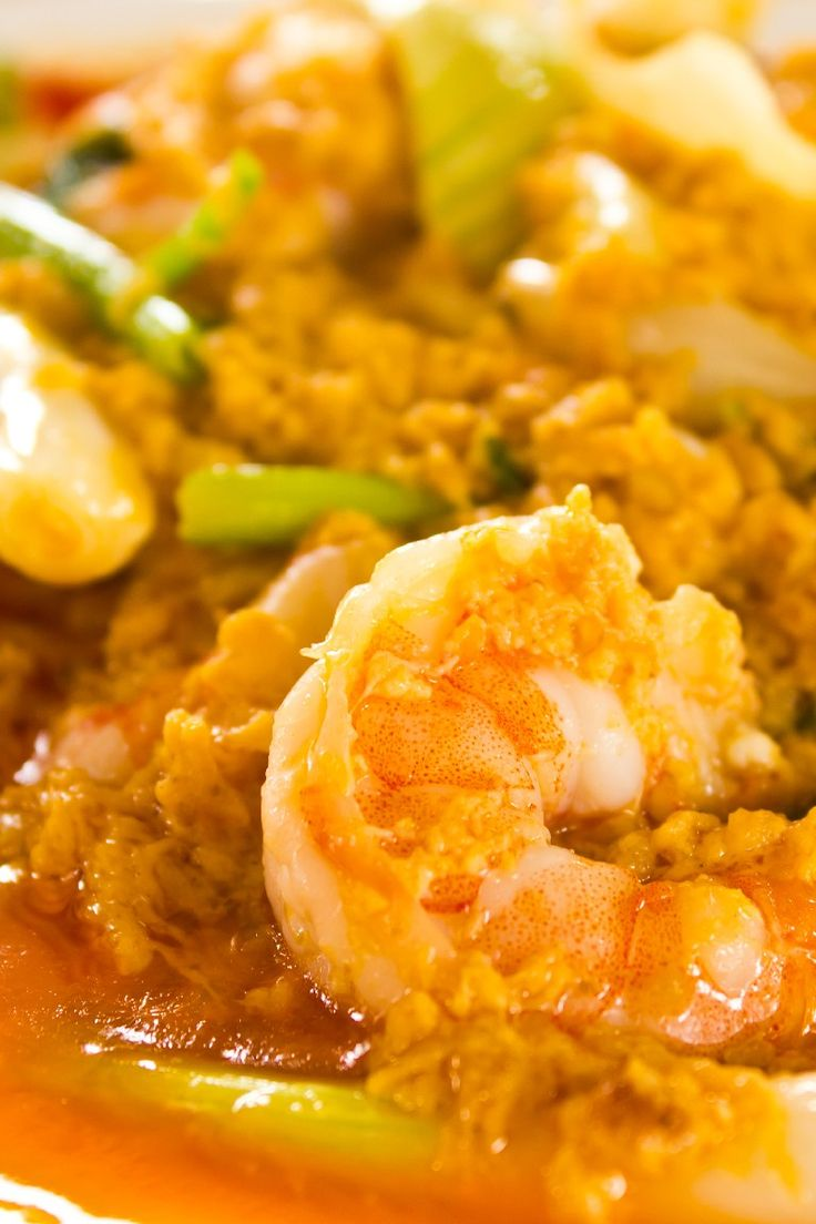 Thai Shrimp Curry. Made this tonight. Only had green curry, waiting on ...