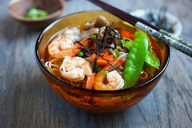 15 minute Soba Noodle Soup