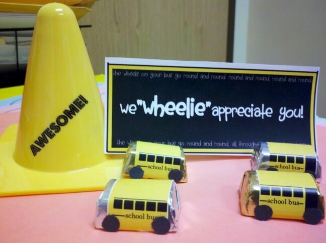 Bus driver appreciation week 2013 | Teacher appreciation | Pinterest