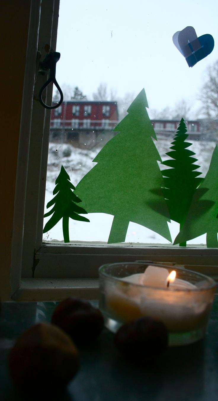 Christmas Window Decorations Christmas Time Pinterest