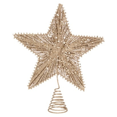 string star tree topper gold christmas pinterest. Black Bedroom Furniture Sets. Home Design Ideas