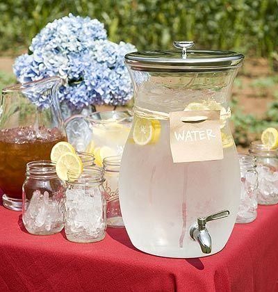 like the pitcher and mason jars