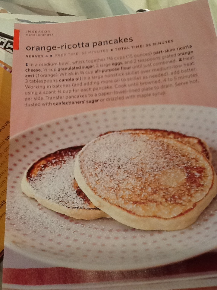 Orange-ricotta pancakes | Food | Pinterest