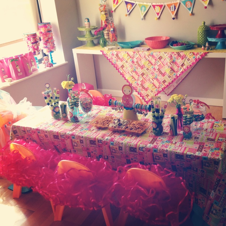 Russian Table Setting : Table Set Up-Russian Doll Party  Russian Doll Party  Pinterest
