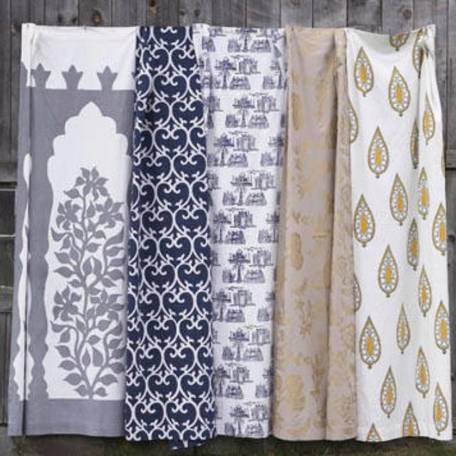 Anthropologie Shower Curtains Anthropologie Sun Medallion Shower Curtain White Cotton Blue