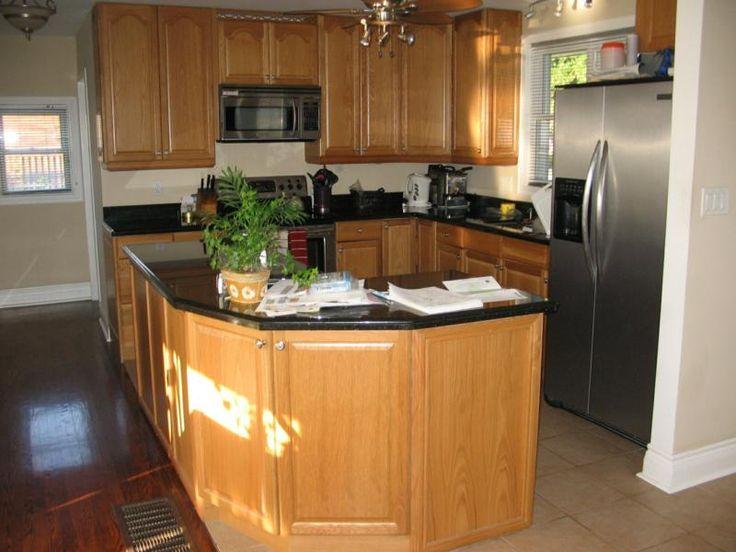 Pin by karen shaver on dream home kitchen pinterest for Triangle kitchen island