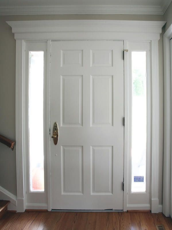 Trim work above interior doors for the home pinterest for Interior window molding designs