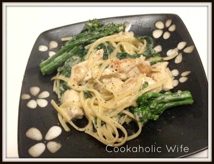 Grilled Chicken Florentine Pasta with Broccolini