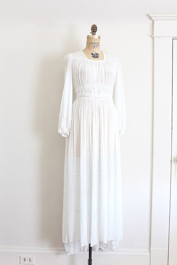 Vintage 40s Style Wedding Dresses : Vintage s wedding dress grecian style gown ethe