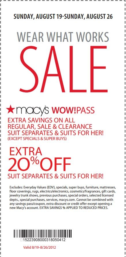 Recently, Macy's has become popular for their designer partnerships with well-known brands like Jessica Simpson and Rachel Ray. Whether you're shopping for yourself or the whole family, be sure to use a Macys coupon code below for free shipping and other great discounts; or bring a printable coupon to any of the Macys locations.