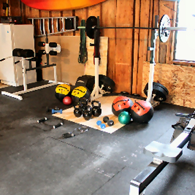 Crossfit home gym fitness pinterest