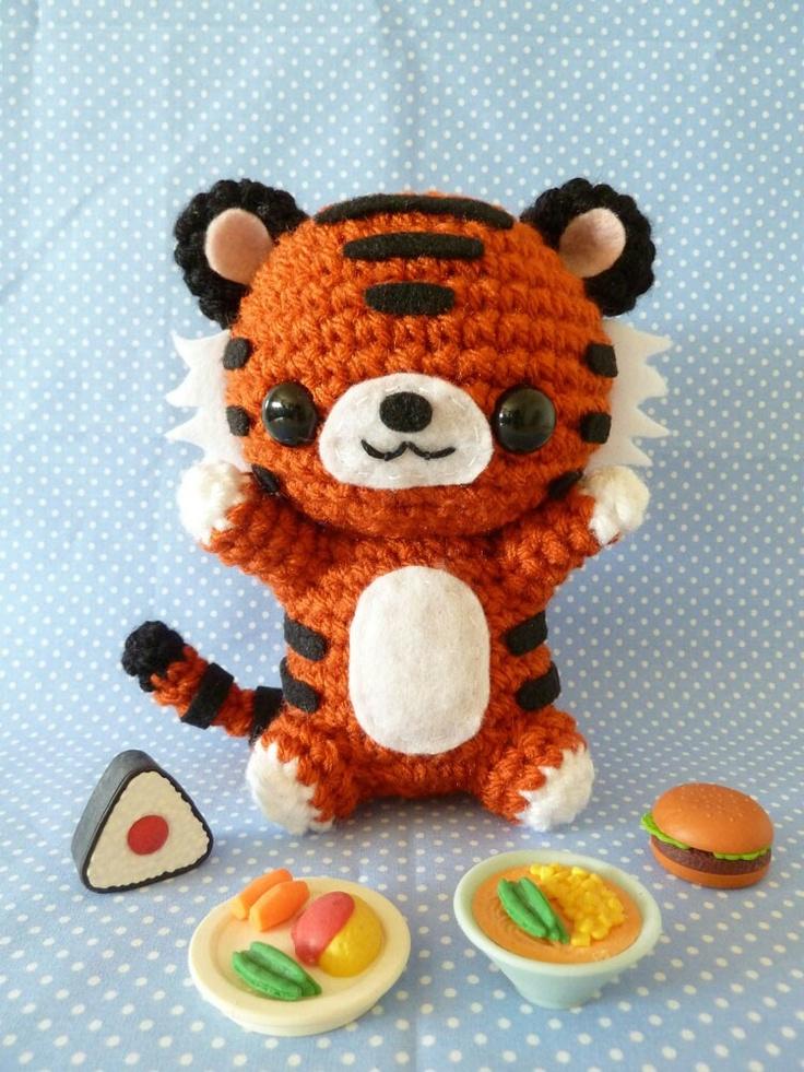 Crochet Pattern For Amigurumi Tiger : Crochet tiger :-) Crochet - Amigurumis Pinterest