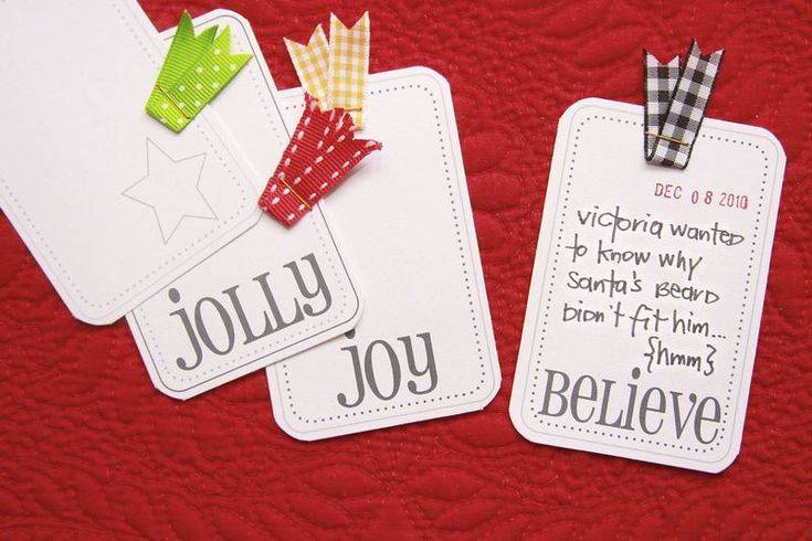 Gift Tags (printable) for Christmas: jolly, joy, believe
