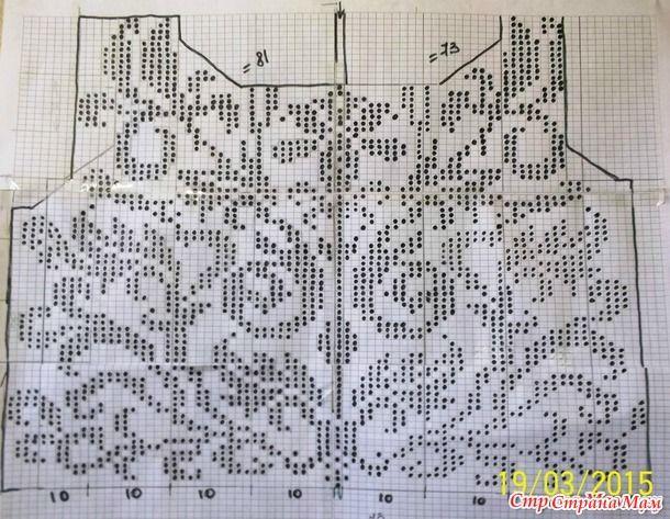 Модели и узоры филейного вязания