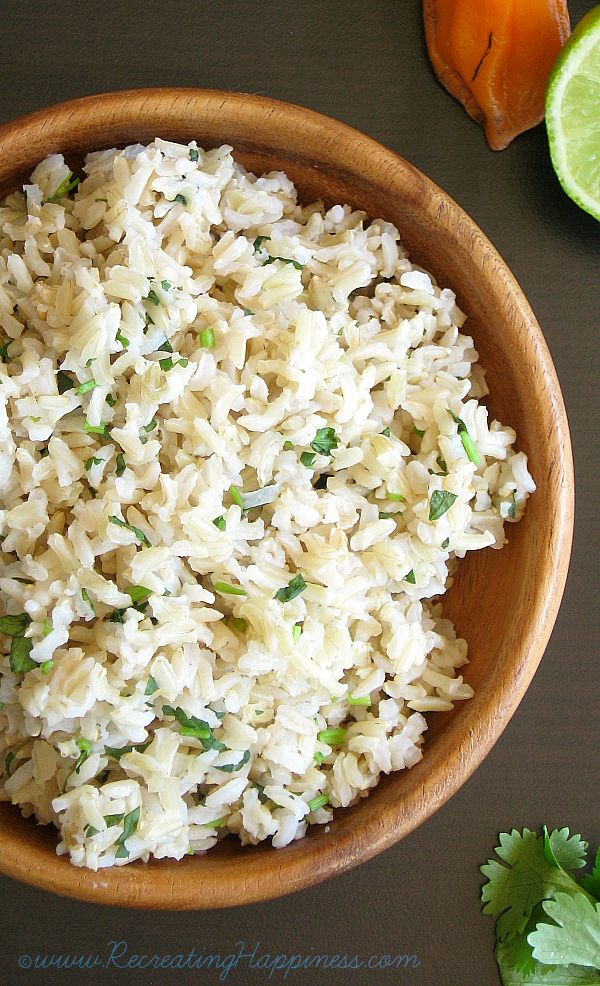 ... -Lime Brown Rice recipe | How to cook brown rice PERFECT every time