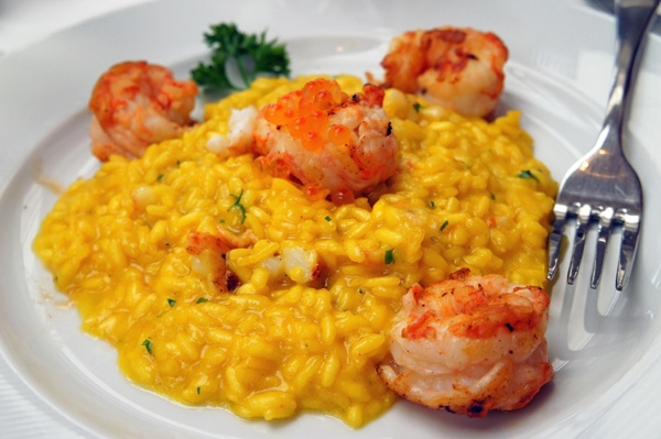 saffron risotto & crayfish | Recipes and Cuisine | Pinterest