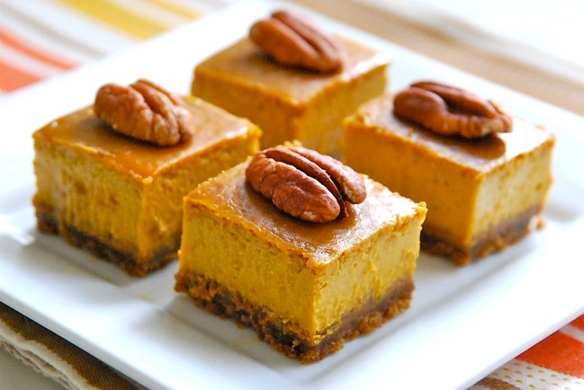 PUMPKIN CHEESECAKE SQUARES (OR PIE)   Pumpkintrest!   Pinterest