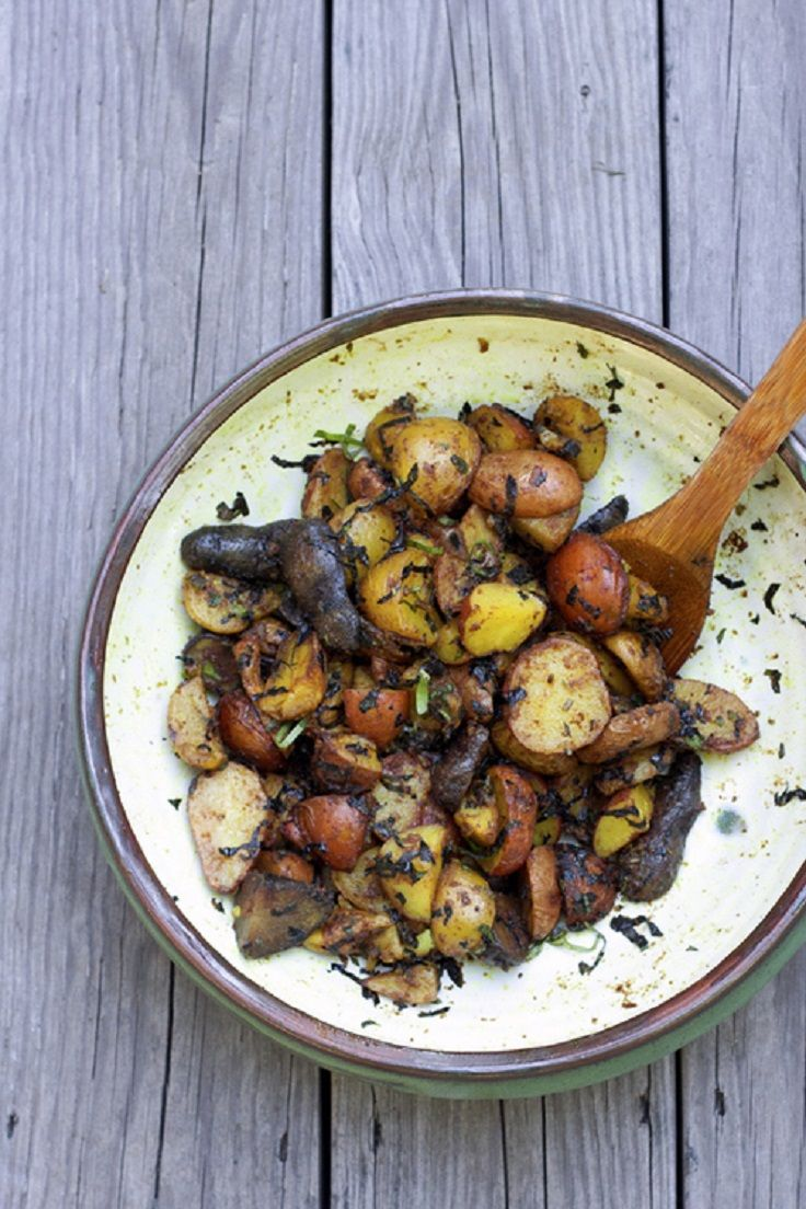 Curried Potato Salad with Basil Mint | Recipes | Pinterest