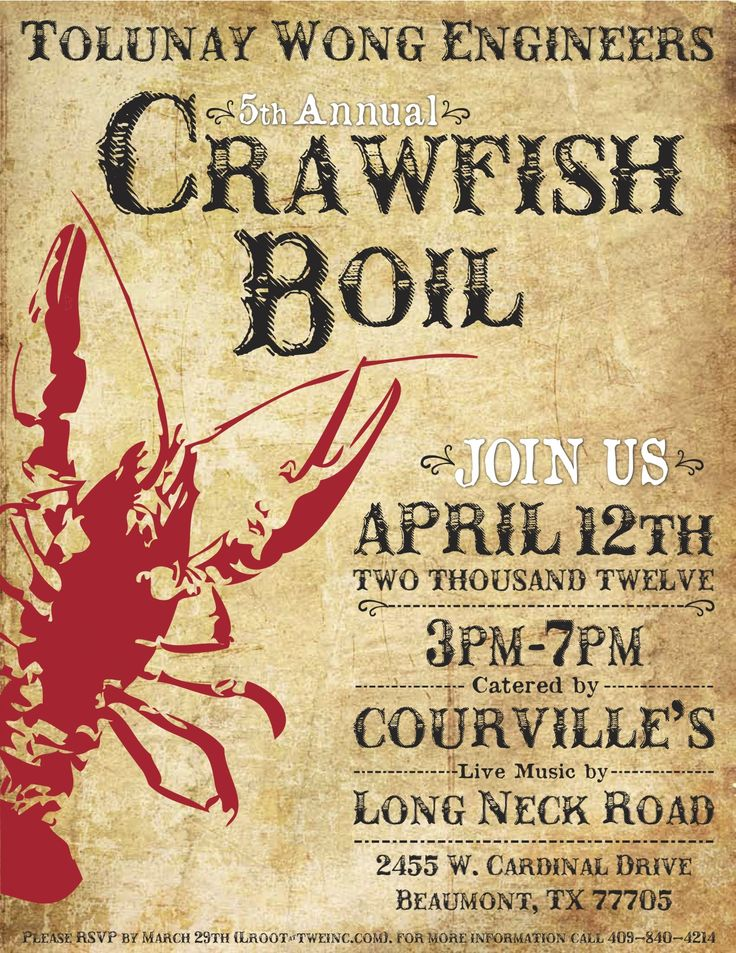 It is an image of Gorgeous Crawfish Boil Invitations Free Printable