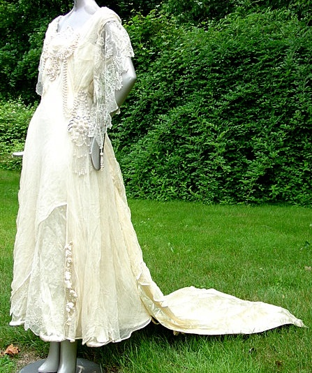 Art Nouveau Wedding Dress View II A Time Gone By Pinterest
